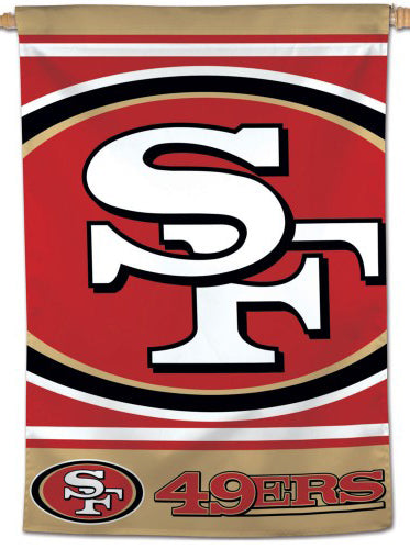San Francisco 49ers Official NFL Team Logo and Script Style Team Wall BANNER - Wincraft Inc.