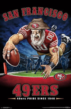 "San Francisco 49ers ""49ers Pride Since 1946"" NFL Theme Art Poster - Liquid Blue/Trends Int'l."