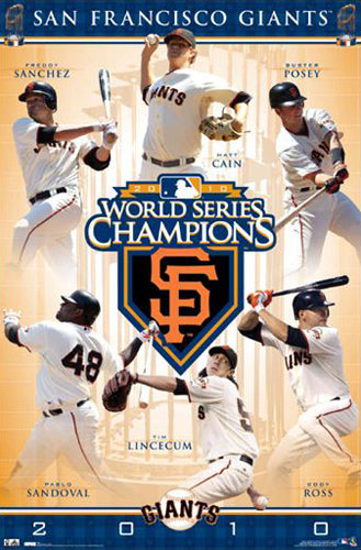 San Francisco Giants 2010 World Series Champions Commemorative Poster - Costacos Sports
