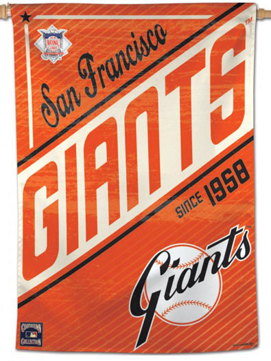 "San Francisco Giants ""Since 1958"" Cooperstown Collection Premium 28x40 Wall Banner - Wincraft Inc."