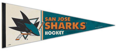 San Jose Sharks NHL Vintage Hockey Collection Premium Felt Collector's Pennant - Wincraft