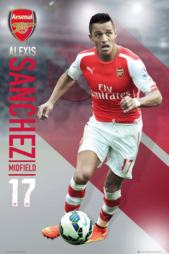 "Alexis Sanchez ""Superstar"" Arsenal FC Soccer Action Poster - GB Eye (UK)"