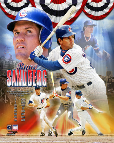 "Ryne Sandberg ""Hall of Fame 2005"" Chicago Cubs Premium Poster Print - Photofile Inc."