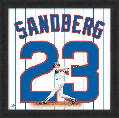 "Ryne Sandberg ""Number 23"" Chicago Cubs FRAMED 20x20 UNIFRAME PRINT - Photofile"