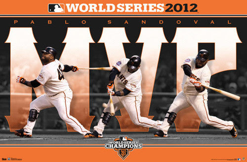 Pablo Sandoval 2012 World Series MVP Commemorative Poster - Costacos