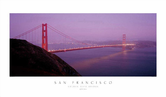 San Francisco Golden Gate Bridge at Dusk - Rick Anderson Inc.