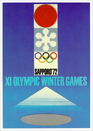 Sapporo 1972 Winter Olympic Games Official Poster Reprint - Olympic Museum