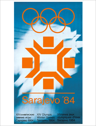 Sarajevo 1984 Winter Olympic Games Official Poster Reprint - Olympic Museum