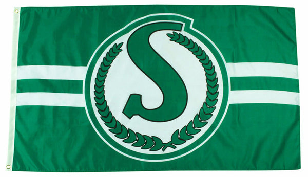 Saskatchewan Roughriders Classic 1966-84-Style CFL Football 3'x5' Official Team Banner FLAG - The Sports Vault