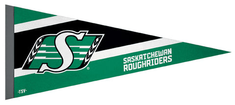 Saskatchewan Roughriders CFL Football Team Premium Felt Pennant - The Sports Vault Canada