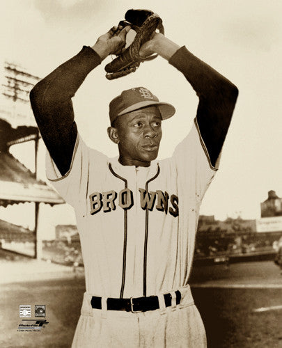 Satchel Paige St. Louis Browns 1952 Sepia-Tone Premium Poster Print - Photofile Inc.