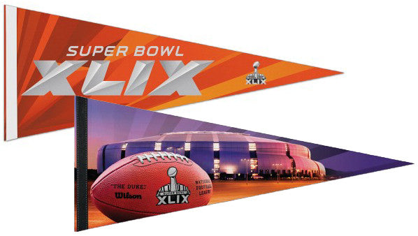 Super Bowl XLIX (Arizona 2015) 2-Pennant Combo Premium Felt Collector's Pennants - Wincraft