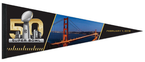 Super Bowl 50 San Francisco Bay Bridge Logo-Style Official Premium Felt Pennant - Wincraft 2016