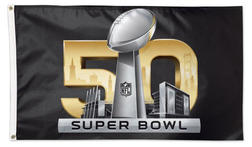 Super Bowl 50 (San Francisco Bay Area 2016) Official Game Logo Deluxe 3'x5' Flag - Wincraft Inc.