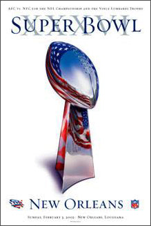 Super Bowl XXXVI Official Poster (*Feb. 3*) - Action Images