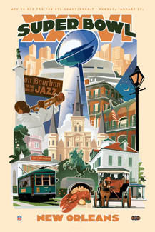 Super Bowl XXXVI Official Poster (*Jan 27 Phantom Edition*) Poster - Action Images