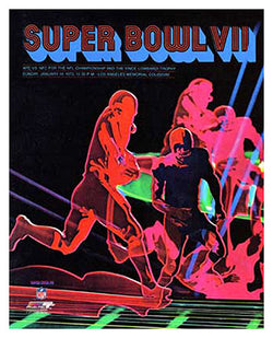 Super Bowl VII (1973) Event Poster Official Reprint - Photofile 24x30 Edition