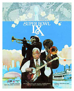 Super Bowl IX (1975) Event Poster Official NFL Reproduction - Photofile Inc.