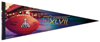 "Super Bowl XLVII (2013) ""Game Ball"" Official Premium Felt Collector's Pennant - WIncraft"