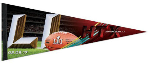 Super Bowl LI (Houston, TX 2-5-2017) Official Premium Felt Collector's Pennant - Wincraft
