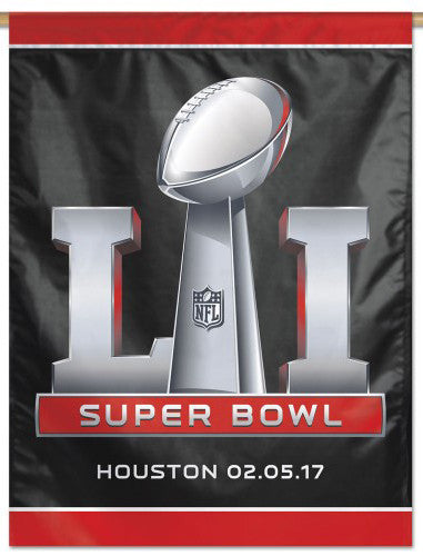Super Bowl LI (Houston 2017) Official NFL Event Banner Flag - Wincraft Inc.