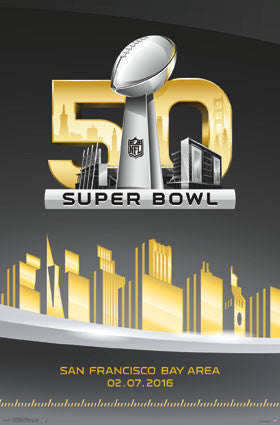 Super Bowl 50 (2016) Official Game Logo Poster - Trends Int'l.