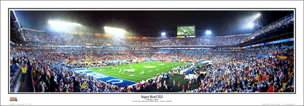"Super Bowl XLI (Colts vs. Bears, Feb. 4, 2007) ""Corner"" Panoramic Poster Print - Everlasting"