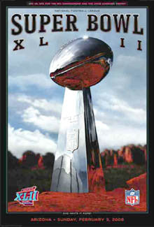 Super Bowl XLII (Arizona 2008) Official Event Poster - Action Images