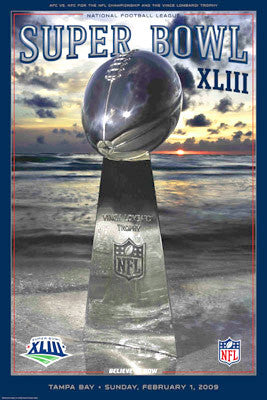 Super Bowl XLIII (Tampa 2009) Official Event Poster - Action Images