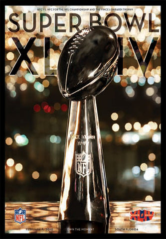 Super Bowl XLIV Official Theme Art Poster (Miami 2010) - Action Images