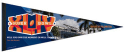 "Super Bowl XLIV (2010) ""Own the Moment"" Event Premium Pennant"
