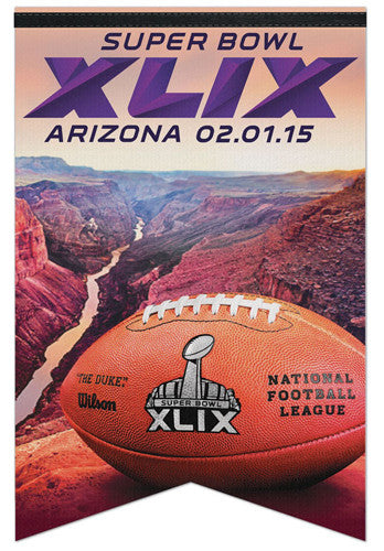 "Super Bowl XLIX (2015) ""Grand Canyon"" Official Premium Felt Banner - Wincraft"