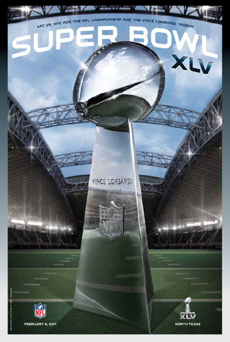 Super Bowl XLV (Dallas 2011) Official Theme Art Event Poster - Action Images Inc.