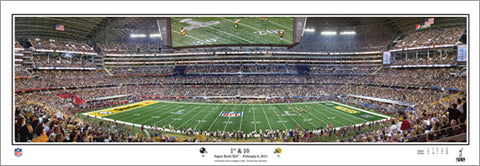 "Super Bowl XLV ""1st and 10"" (Packers vs. Steelers) Panoramic Poster Print - Everlasting 2011"