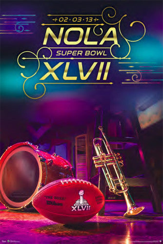 Super Bowl XLVII (New Orleans 2013) Official Event Poster - Trends International