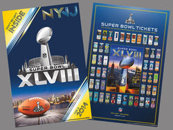 COMBO: Super Bowl XLVIII (NYNJ 2014) Official Poster & Super Tickets