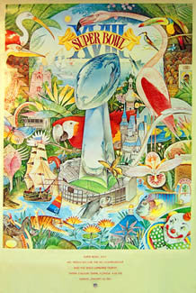 Super Bowl XVIII Official Poster (1984) - NFL Properties Inc