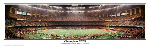 Super Bowl XXXI (Green Bay Packers vs. Patriots 1997) Panoramic Poster Print - Everlasting Images