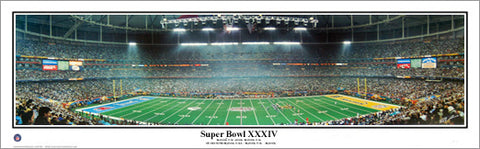 Super Bowl XXXIV (St. Louis Rams vs. Titans 2000) Panoramic Poster Print - Everlasting Images