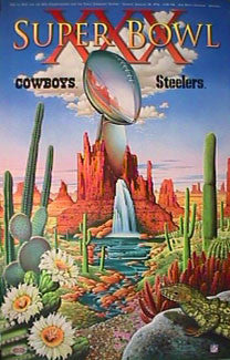Super Bowl XXX (Phoenix 1996) Official Event Poster - Action Images Inc.