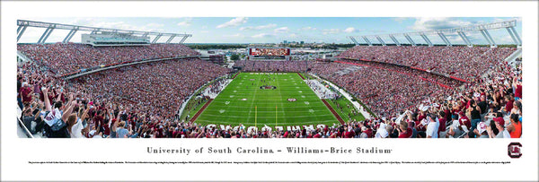 South Carolina Gamecocks Football Gameday End-Zone View Panoramic Poster Print - Blakeway 2017
