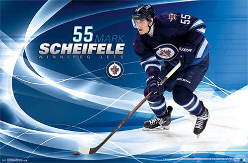 "Mark Scheifele ""Superstar"" Winnipeg Jets NHL Hockey Action Poster - Costacos 2014"