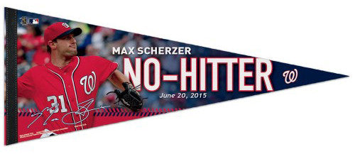 Max Scherzer NO-HITTER Washington Nationals Premium Felt Commemorative PENNANT - Wincraft