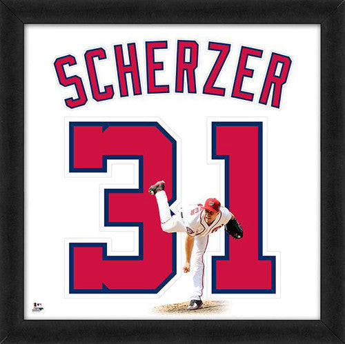 "Max Scherzer ""Number 31"" Washington Nationals FRAMED 20x20 UNIFRAME PRINT - Photofile"