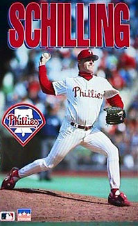 "Curt Schilling ""Heat"" Philadelphia Phillies Poster - Starline Inc. 1993"