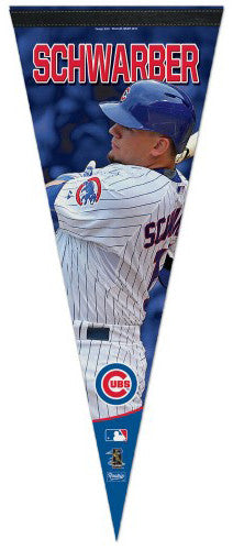 "Kyle Schwarber ""Superstar Series"" Chicago Cubs Premium Felt Collector's Pennant - Wincraft Inc."