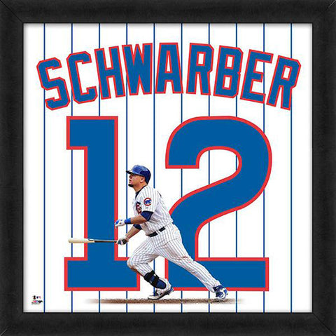 "Kyle Schwarber ""Number 12"" Chicago Cubs MLB FRAMED 20x20 UNIFRAME PRINT - Photofile"