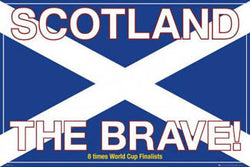 Scotland the Brave! Soccer Poster - GB Posters 2007