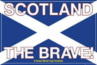 scotland the brave soccer poster gb posters 2007 sports poster