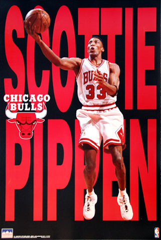 "Scottie Pippen ""Big-Time"" (1997) Chicago Bulls Poster - Starline Inc."